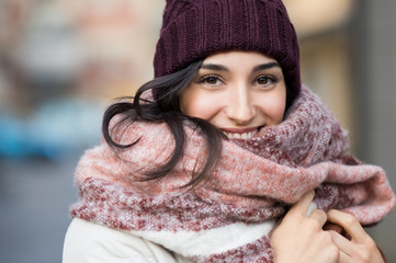 Winter woman outdoor