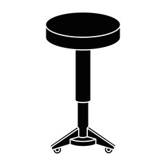 seat icon over white background vector illustration