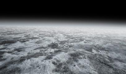 grey desolate landscape in a black night