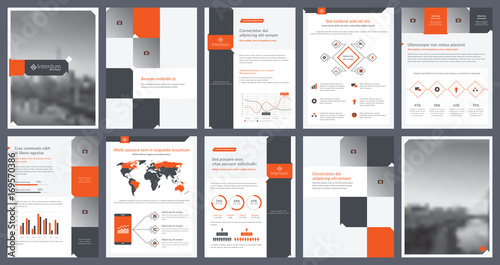 elements of infographics for report template and presentations