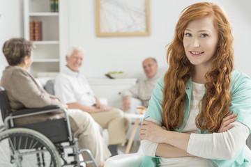 Nurse watch over elderly people
