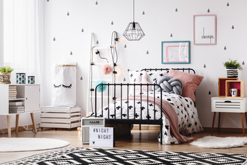Kids room with white ladder