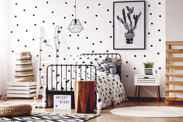 Kids room with simple poster