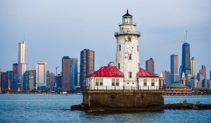 Wall Mural - Chicago Lighthouse