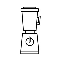 kitchen blender with glass container electronic appliance vector illustration
