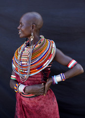 Portrait of woman from the Samburu tribe. Kenya, Africa