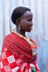 Woman from Samburu tribe. Kenya, Africa