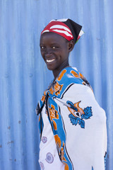 Portrait of Maasai tribeswoman. Kenya, Africa.