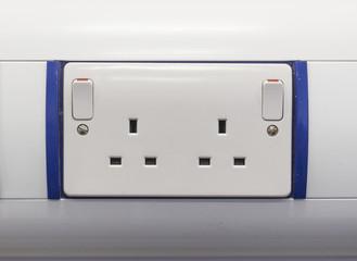 Double UK power socket