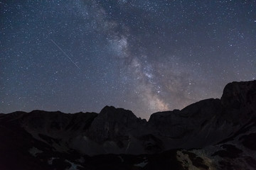 Milky way over the Peak Sinanica in Pirin Mountain, Bulgaria