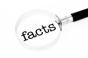 Facts symbol with magnifier