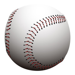 Isolated baseball ball