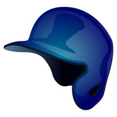 Isolated baseball helmet