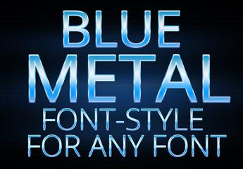 Blue Metallic Text Style 1