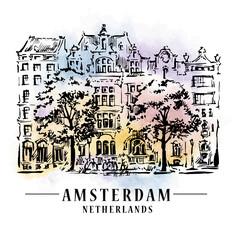Amsterdam architecrture sketch