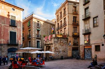 Foto op Canvas Barcelona Gothic Quarter in Barcelona