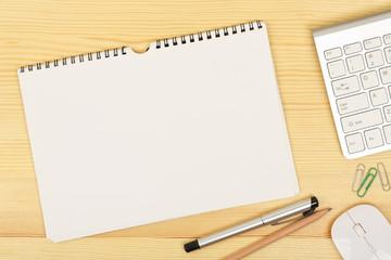 notebook on desk