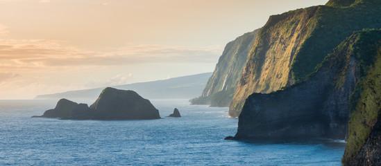 Pololu Valley During Sunrise, Big Island, Hawaii