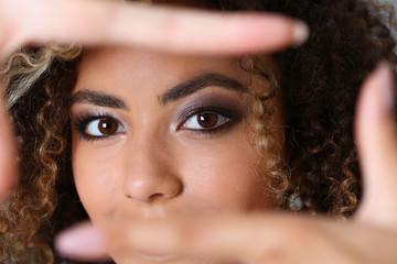 Beautiful black woman portrait.