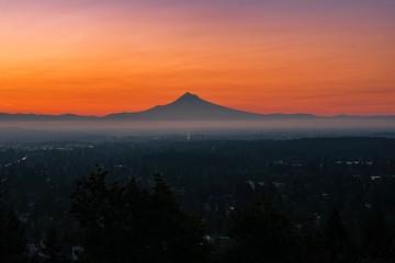 Summer Sunrise in Portland Oregon