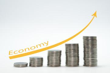 Ótimo conceito de poupança, inflação e economia