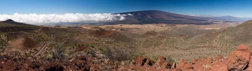 Panorama of the Plateau between Mauna Kena and Manua Loa, Big Island, Hawaii