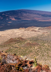 Craters at the foot of Mauna Loa, Big Island, Hawaii