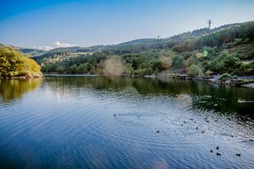 Le lac du barrage de Couzon dans le parc du Pilat
