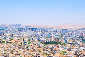 Beautiful skyline of Sanliurfa, Turkey with copy space