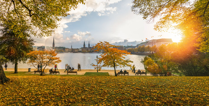 Herbst an der Alster, Hamburg