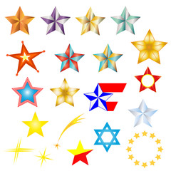 Star icon and logo set