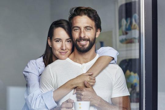 Portrait of mid adult couple