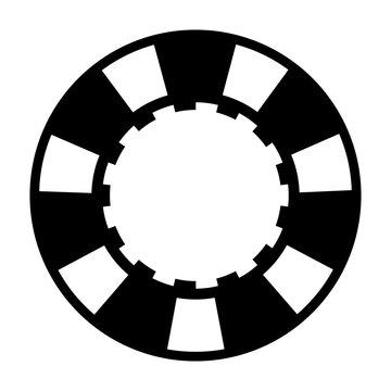 black casino poker chip