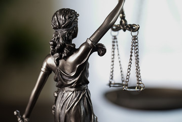 Scales of Justice symbol - legal law concept image