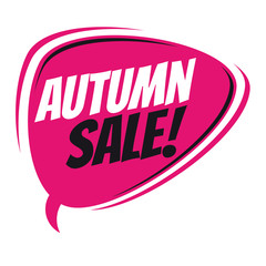 autumn sale retro speech balloon