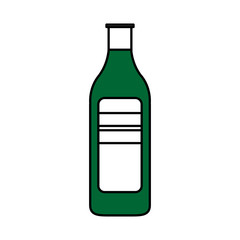 bottle with blank label icon image vector illustration design