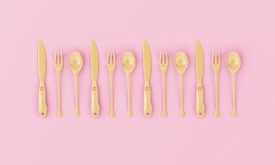 Pastel Beautiful Kitchen Tools, Minimal conceptual Art.
