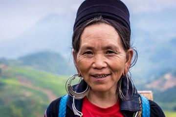 Smiling elderly woman from Northern Vietnam