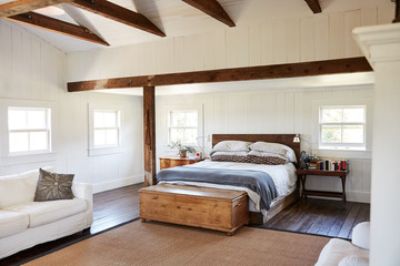 Bedroom inside of a farmhouse