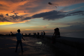 Sunset on the Malecón