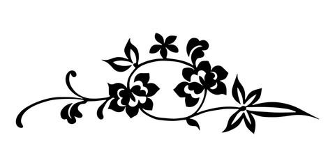 Chinese folk flower.Chinese handwriting folk design symbol