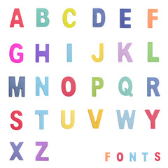 Colorful wood alphabet letters