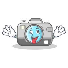 Crazy camera caharacter cartoon design