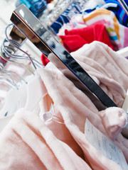 Garment clothes in shop.