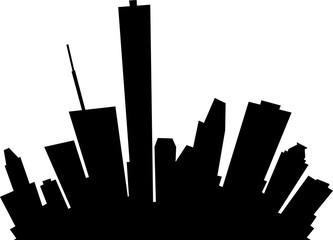 Cartoon skyline silhouette of the city of Houston, Texas, USA.