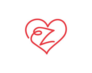 Letter Z and heart logo 1