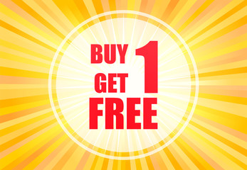 Buy one get one poster vector