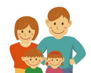Family illustration  (vector) / from the waist up