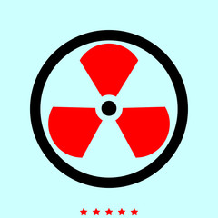 Sign radioactive it is icon .