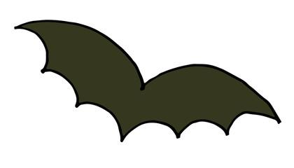 Bat vector icon doodle Halloween illustration